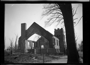 Bellingham Methodist Church after the Great Chelsea Fire