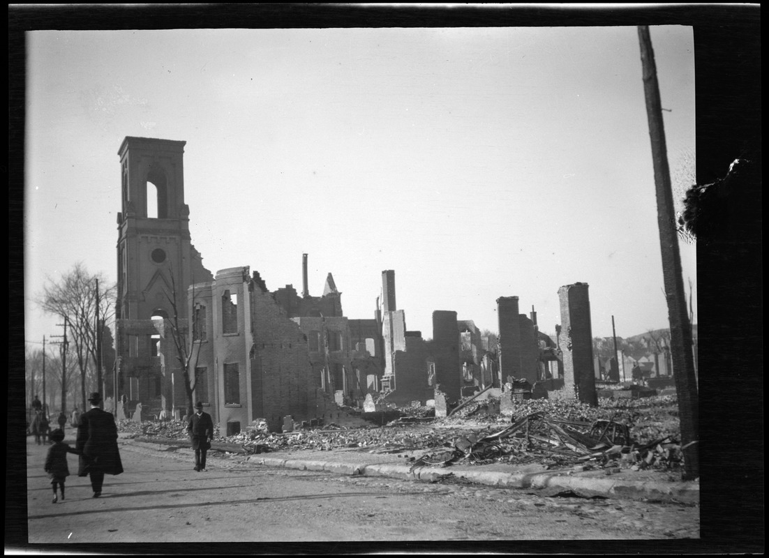 Central Congregational Church after the Great Chelsea Fire