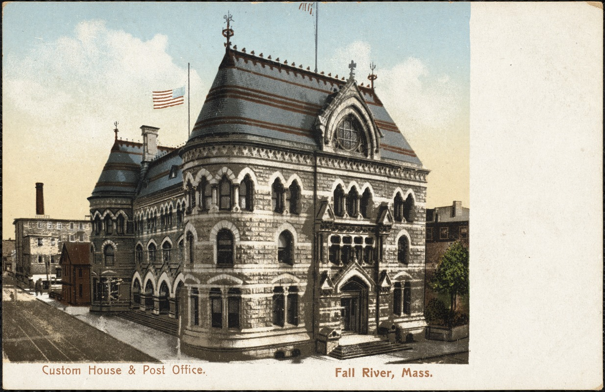 Custom House and Post Office, Fall River, Mass. - Digital Commonwealth