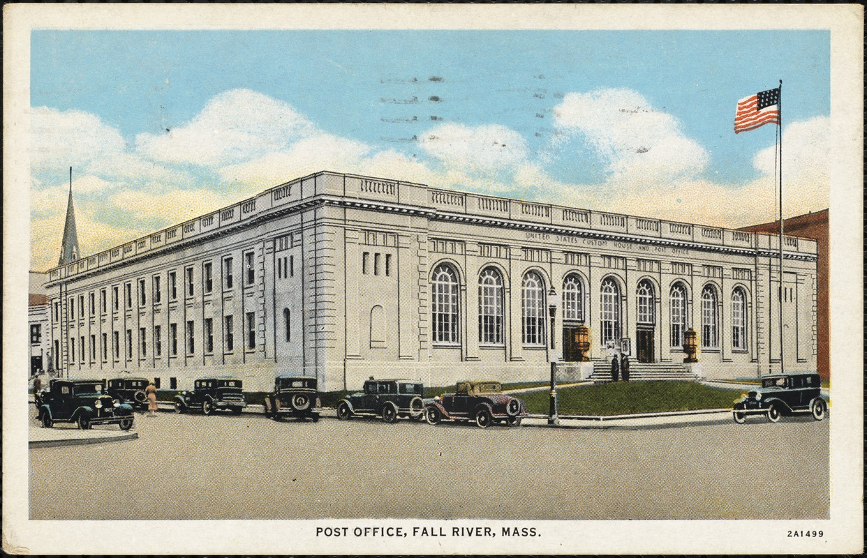Post Office, Fall River, Mass. - Digital Commonwealth