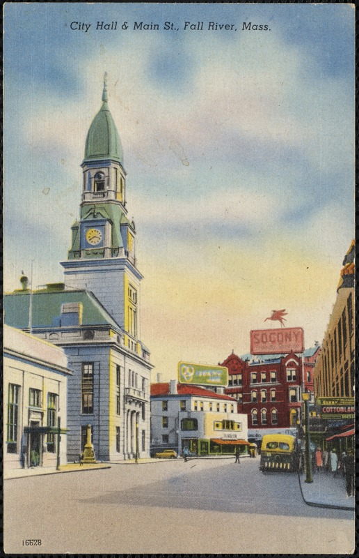 City Hall & Main St., Fall River, Mass.