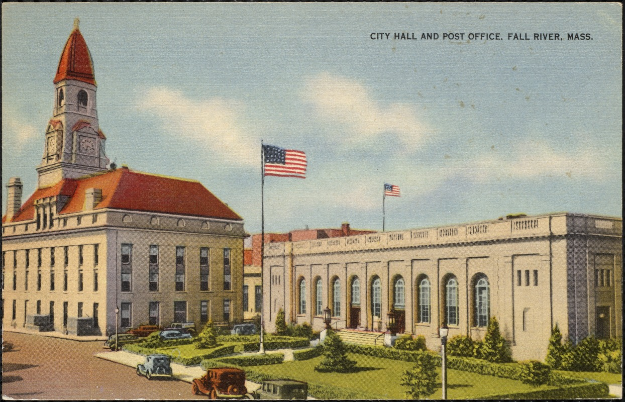 City Hall and Post Office, Fall River, Mass. - Digital Commonwealth