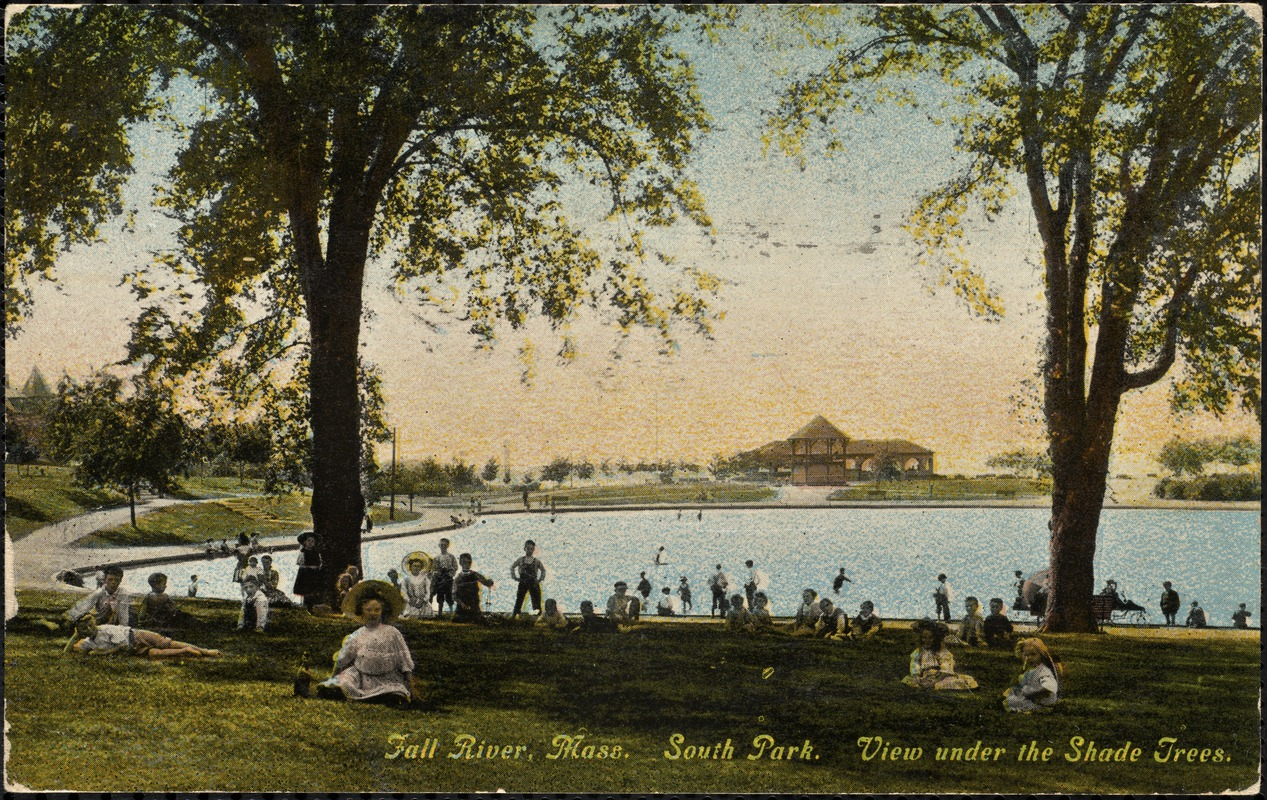 Fall River, Mass. South Park. View under the shade trees