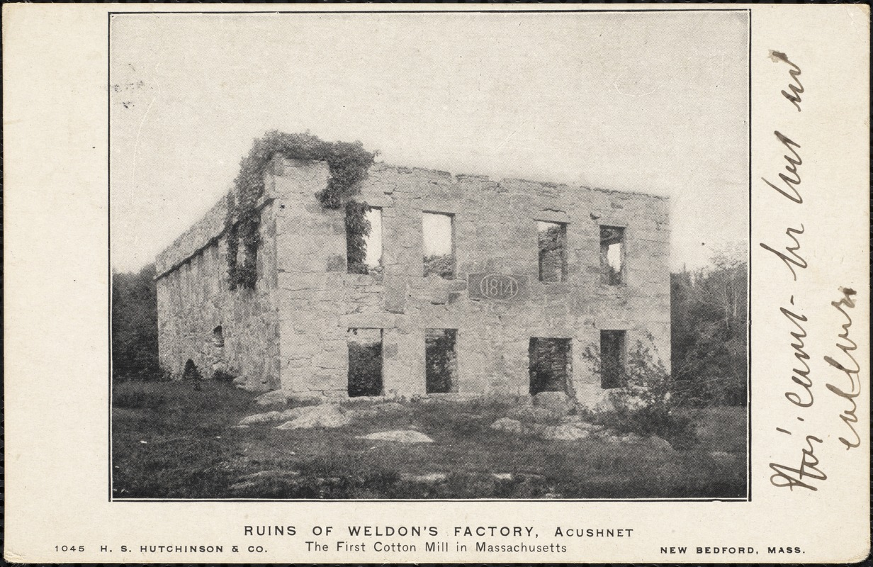 Ruins of Weldon's factory, Acushnet