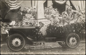 """Cotton carnival"", Fall River, June 19 to 24, 1911 ""first prize and special grand prize"""