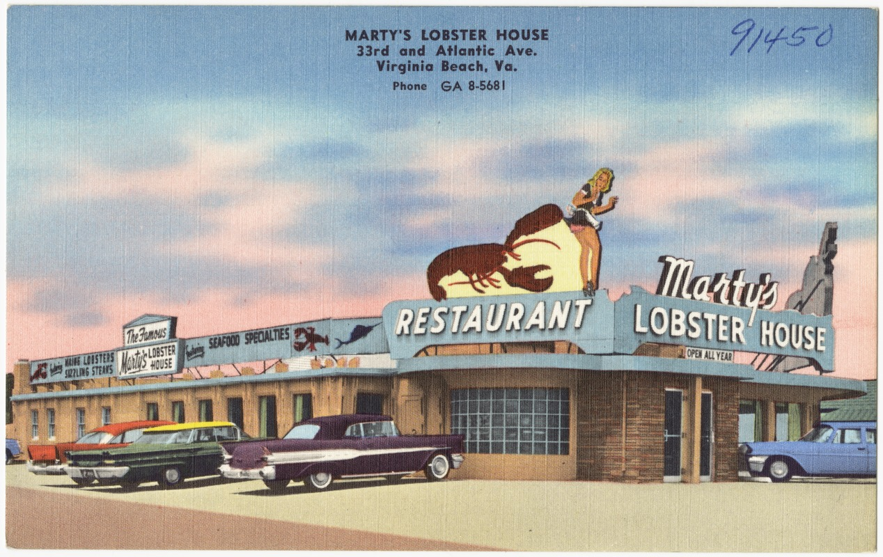 Marty S Lobster House 33rd And Atlantic Ave Virginia Beach Va