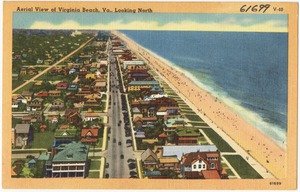Aerial view of Virginia Beach, looking north