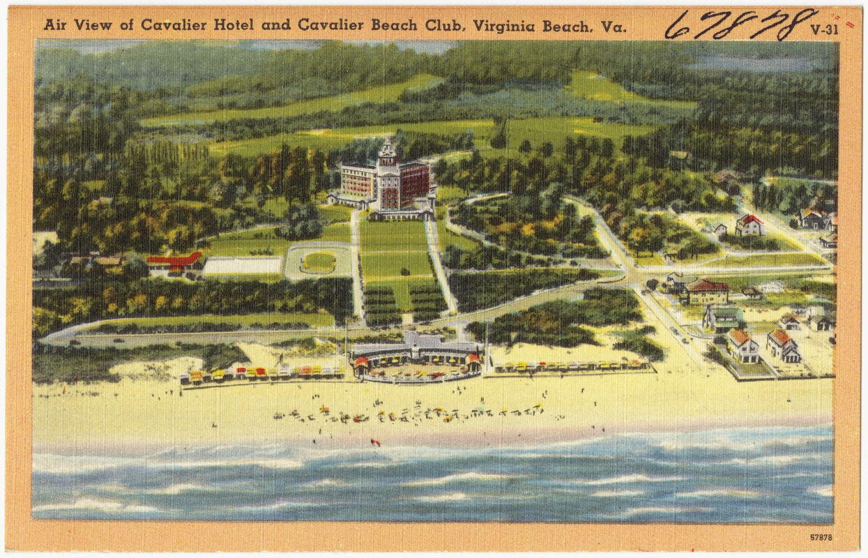 Air View Of Cavalier Hotel And Beach Club Virginia Va