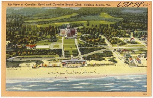 Air view of Cavalier Hotel and Cavalier Beach Club, Virginia Beach, Va.