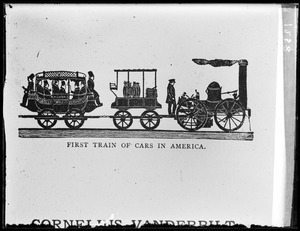 First train of cars in America