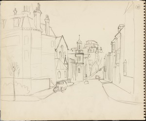Sketch of Mount Vernon Street, Boston