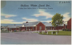 DeLuxe Motor Court Inc., 5 miles from Skyline Drive -- Waynesboro, Virginia