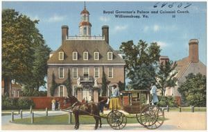 Royal Governor's Palace and Colonial Coach, Williamsburg, Va.