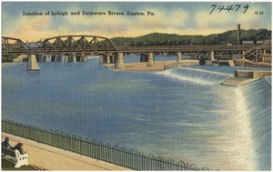 Junction of Lehigh and Delaware Rivers, Easton Pa.