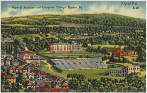 View of stadium and Lafayette College, Easton, Pa.