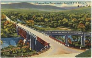 Allegheny River Viaduct Junction Route 346 & 446 Eldred, Pa.