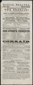 She Stoops to Conquer ; The Corsair