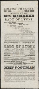 Lady of Lyons ; New Footman