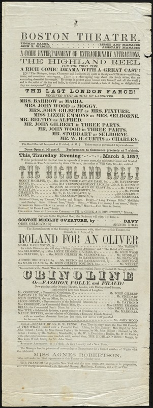 The Highland Reel ; A Roland for An Oliver