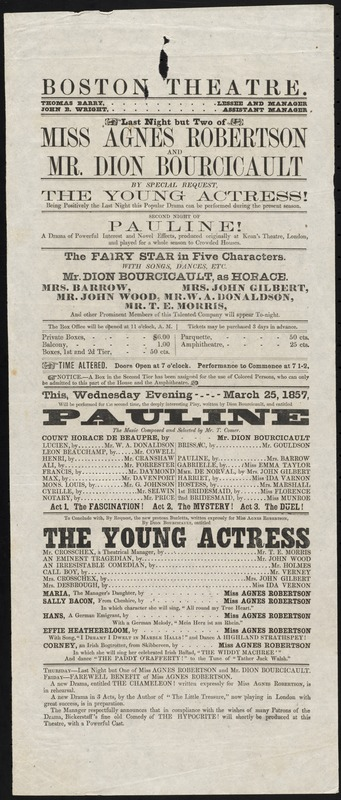Pauline ; The Young Actress