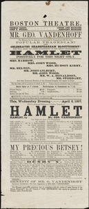 Boston Theatre Broadsides - Spring 1857