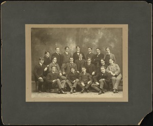 Group of male Bridgewater State Normal School students