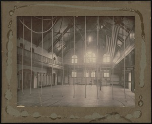 Boyden Gymnasium interior, Bridgewater State Normal School, 1905