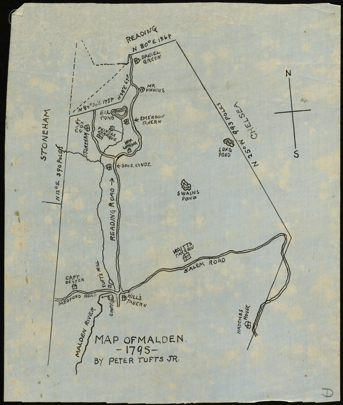 Map of Malden 1795 Norman B Leventhal Map Center