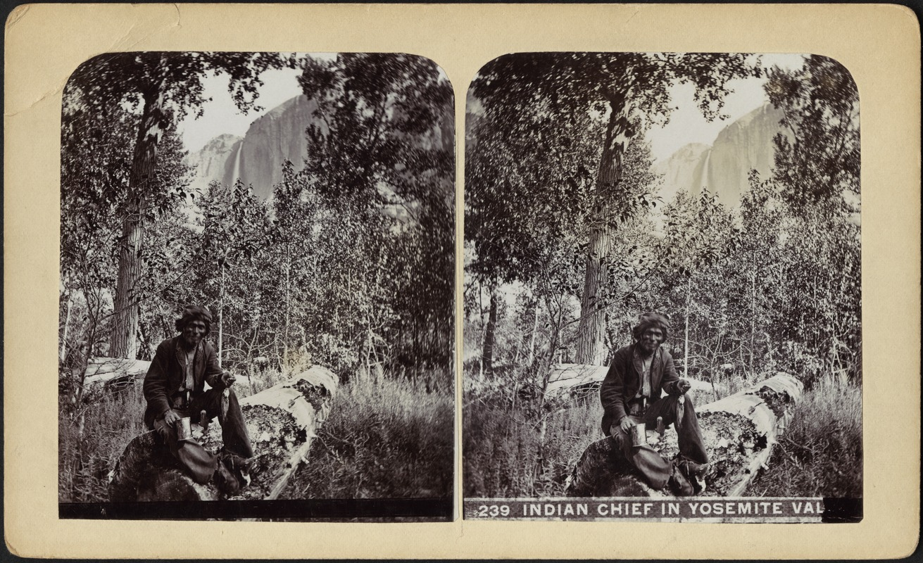 Indian chief in Yosemite Val[ley]