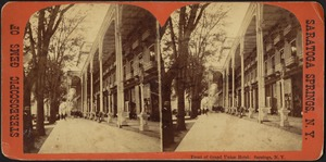 Front of Grand Union Hotel. Saratoga, N.Y.