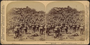 Gallant storming of a Boer kopje by the Suffolks, at Colesberg, S. A., Dec. 31st - praised by Gen. French