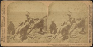 The Gloucesters charging a kopje and facing death, near Norvals Pont (Feb. 3rd), S. Africa