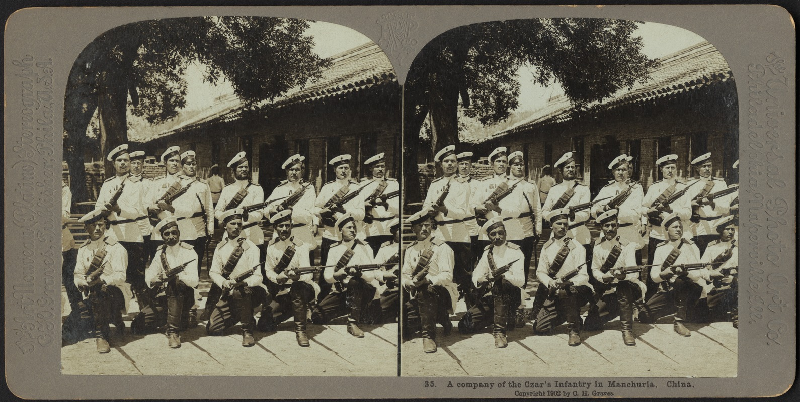 A company of the Czar's infantry in Manchuria, China