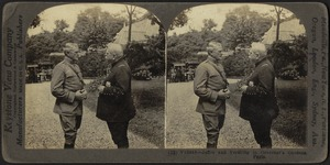 Joffre and Pershing in Governor's Gardens, Paris