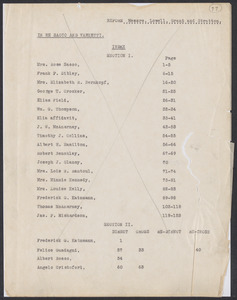 Sacco-Vanzetti Case Records, 1920-1928. Defense Papers. Transcripts of hearings before Governor's Committee, 1927. Box 20, Folder 12, Harvard Law School Library, Historical & Special Collections