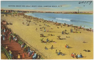 Bathing beach and Great Boar's Head, Hampton Beach, N.H.