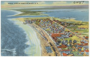 Aerial view of Hampton Beach, N.H.