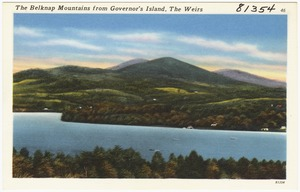 The Belknap Mountains from Governor's Island, The Weirs