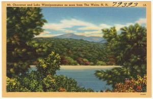 Mt. Chocorua and Lake Winnipesaukee as seen from The Weirs, N.H.