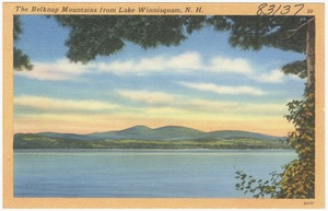 The Belknap Mountains from Lake Winnisquam, N.H.