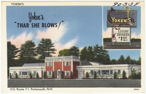 "Yoken's ""Thar She Blows!"", U.S. Route #1, Portsmouth, N.H."