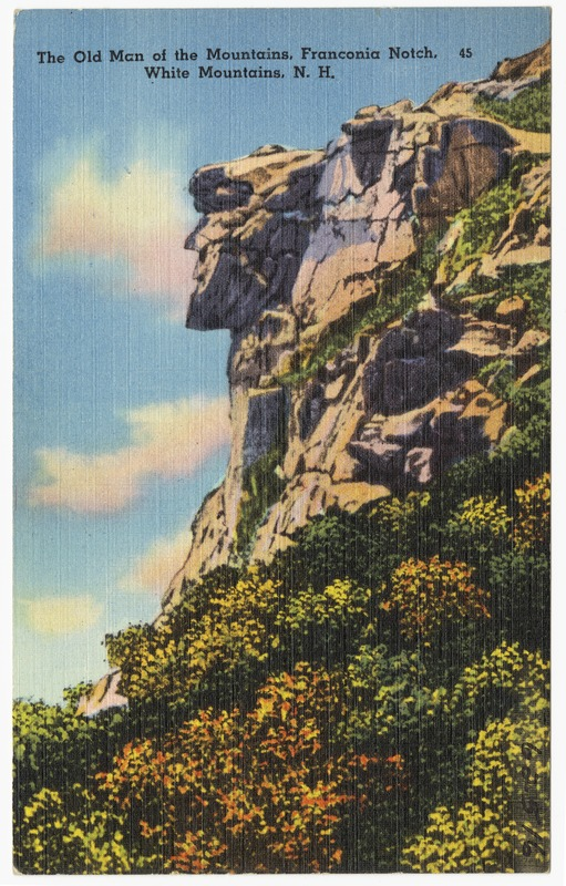 The old Man of the Mountains, Franconia Notch. White Mountains, N.H.