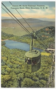 Cannon Mt. Aerial Passenger Tramway, Franconia Notch, White Mountains, N.H.