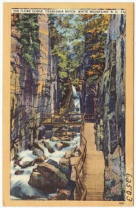 The Flume Gorge, Franconia Notch, White Mountains, N.H.