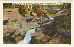 Upper Falls of the Ammonoosuc, Bretton Woods, White Mountains, N.H.