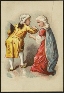 Man and woman in historical costume.