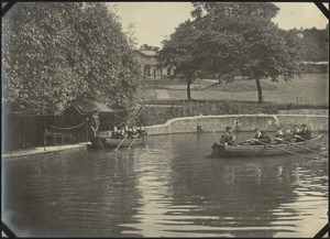 Boating on College Grounds, The Royal Normal College for the Blind, England