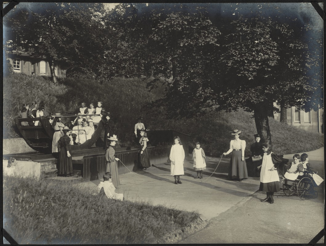 Corner in Girls' Playground, The Royal Normal College for the Blind, England