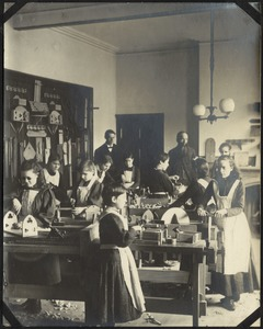 Sloyd Shop Class, The Royal Normal College for the Blind, England