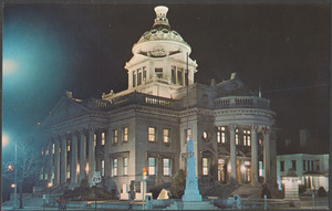 At night by the Somerset Co., Pa. courthouse